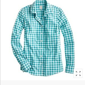 """Jcrew """"the perfect shirt"""" gingham"""